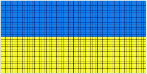 флага Украины и России,