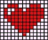 Схема прямого плетения сердца из