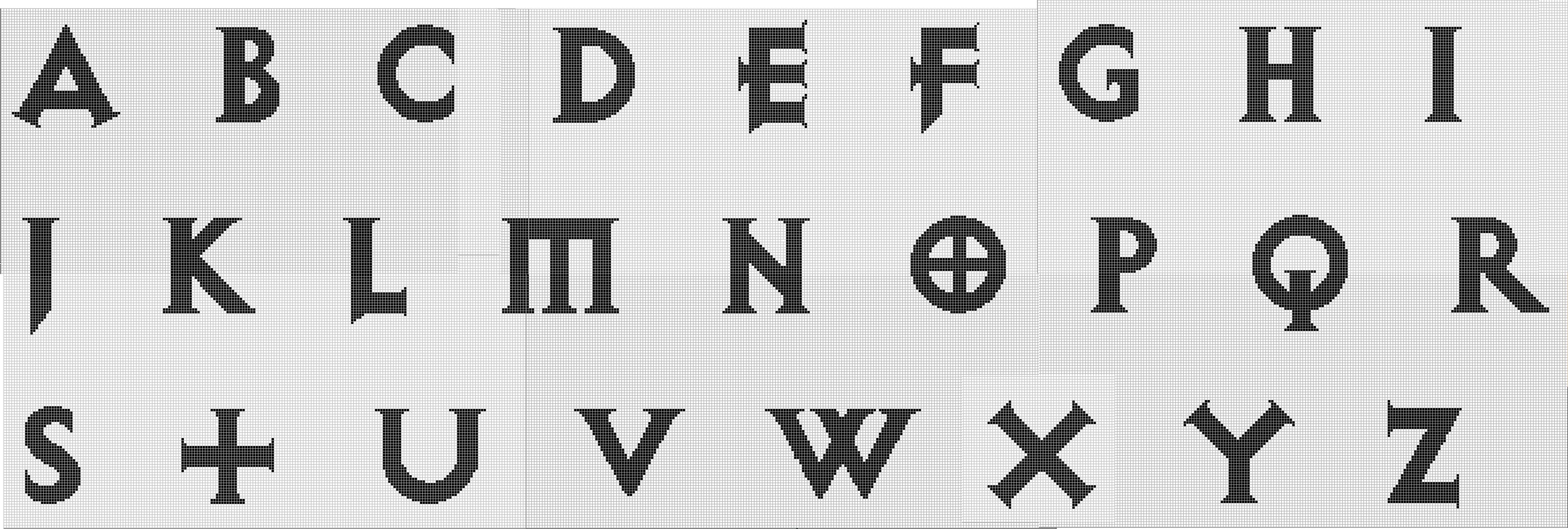 Схема алфавита для фенечек фото 319
