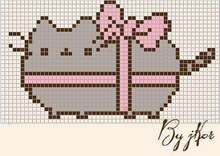 Схемы фенечек с котом саймоном