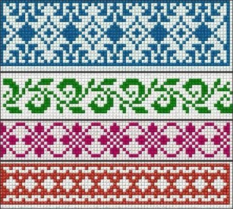 Схемы браслетов из бисера прямое плетение