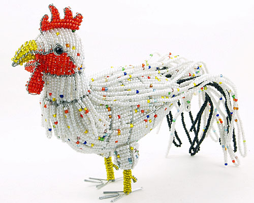 Животные и птицы из бисера